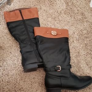 Cato size 11w wide calf knee high boots